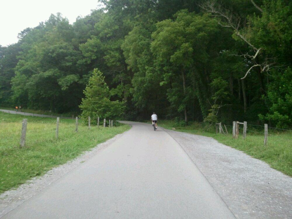 biking at cades cove