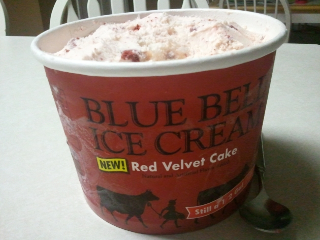 blue bell ice cream red velvet cake