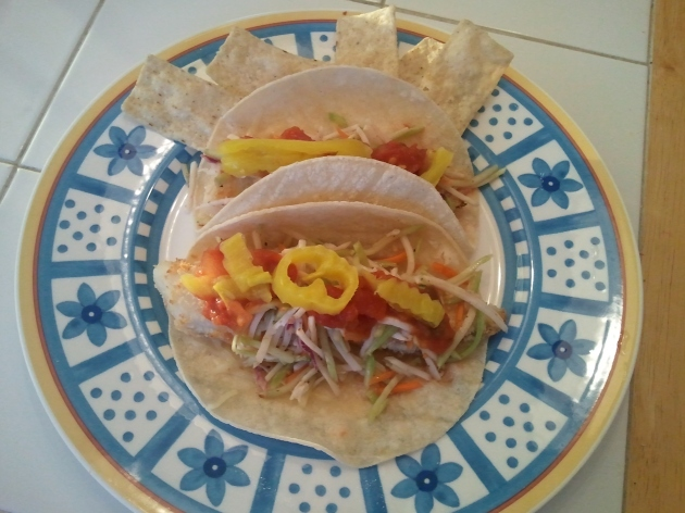 homemade fish tacos