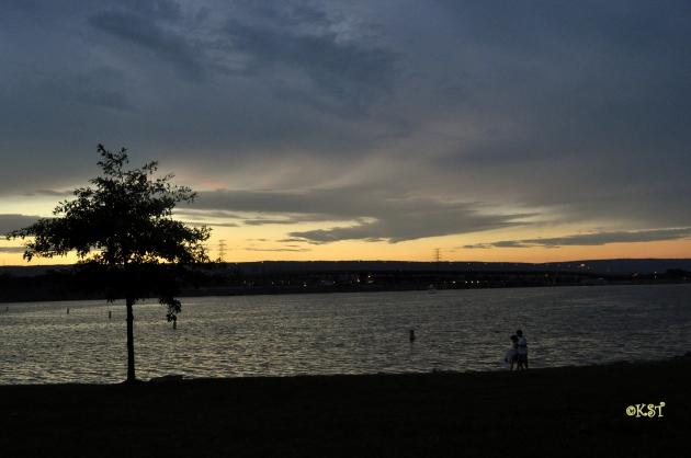 sunset over chickamauga