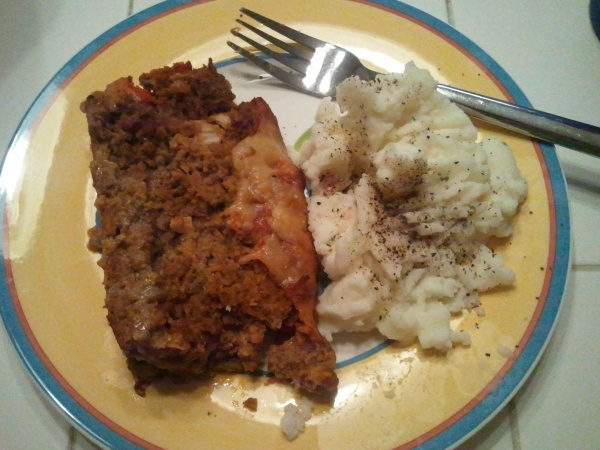 meat loaf and mashed taters