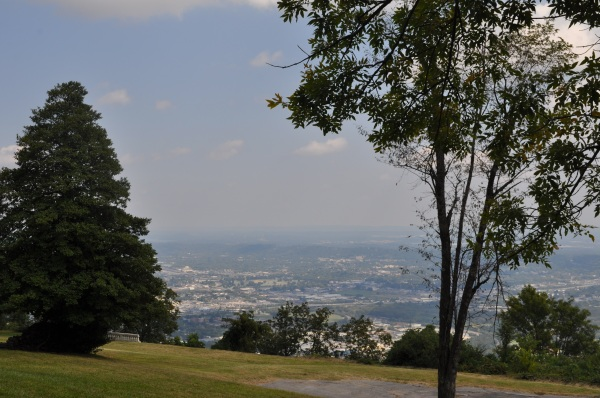 From the top of Lookout Mountain in Chattanooga, TN