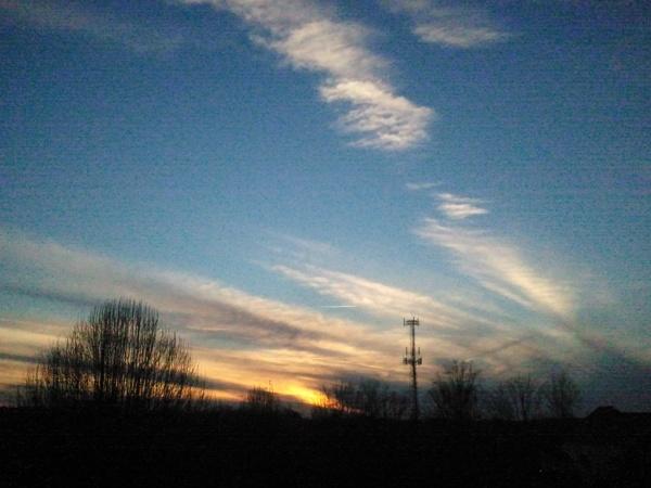 sunset during walk