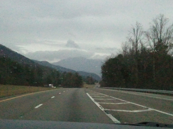 fog on the mountains