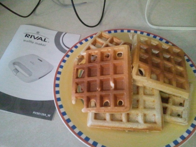 homemade protein waffles