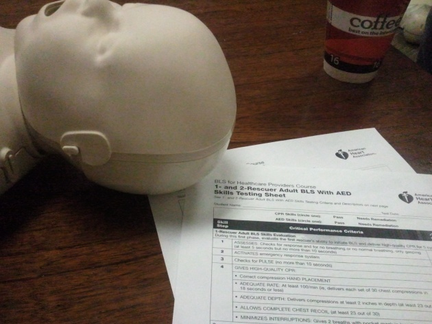 cpr and aed trained