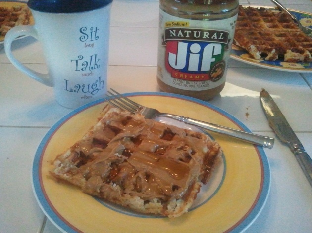 waffles with PB